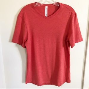 Lululemon Athletica | Men's Orange V-Neck T-Shirt